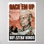 Em trasero del ` para arriba -- General Eisenhower Poster