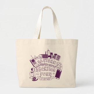 EMA Fund Purple Tote Jumbo Tote Bag
