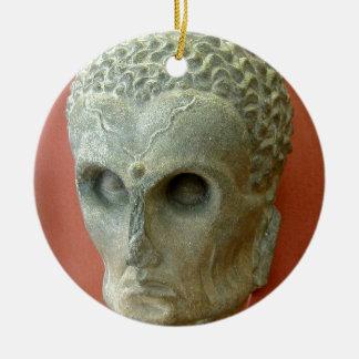 Emaciated Buddha (2-3rd century CE) Ceramic Ornament