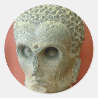 Emaciated Buddha (2-3rd century CE) Classic Round Sticker