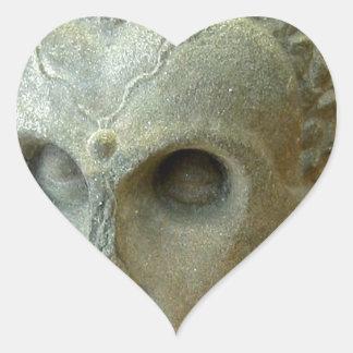 Emaciated Buddha (2-3rd century CE) Heart Sticker