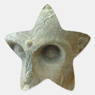 Emaciated Buddha (2-3rd century CE) Star Sticker