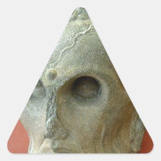 Emaciated Buddha (2-3rd century CE) Triangle Sticker
