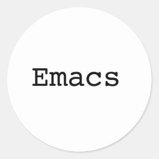 Emacs Pegatina Redonda