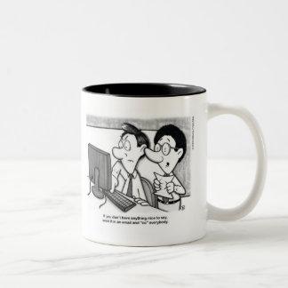 Email 101 Two-Tone coffee mug