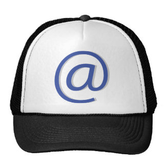 email e-mail at a trucker hat