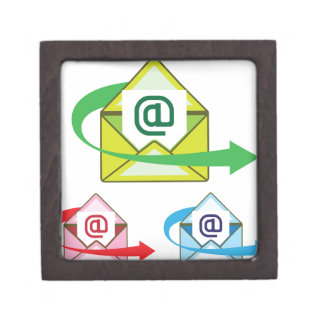 Email Icon mail sent vector Keepsake Box