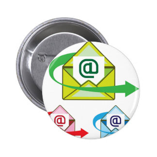 Email Icon mail sent vector Pinback Button