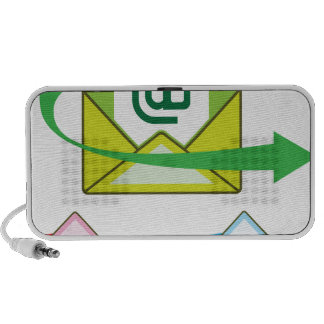Email Icon mail sent vector Portable Speaker