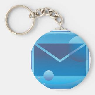 Email Letter Underwater Icon Button Basic Round Button Keychain