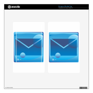 Email Letter Underwater Icon Button Kindle Fire Decal
