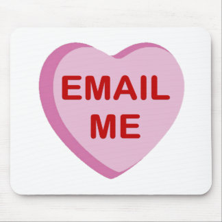 Email Me Conversation Candy Heart Gifts Mouse Pad