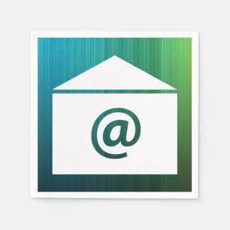 Email Online Symbol Standard Cocktail Napkin