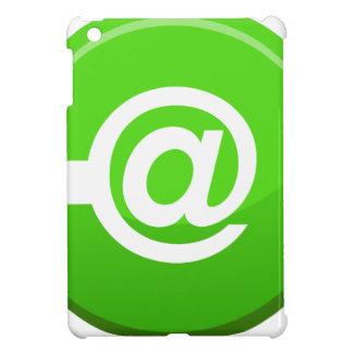 Email Send Round Green Button iPad Mini Cover