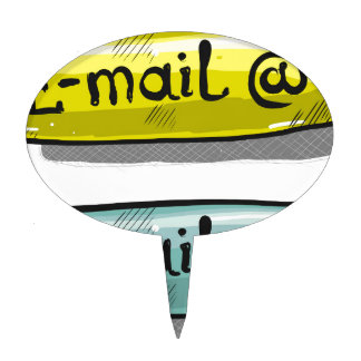 EMail Sketch Button Web Cake Topper