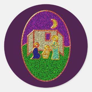 Emaille pesebre enamel nativity set crib