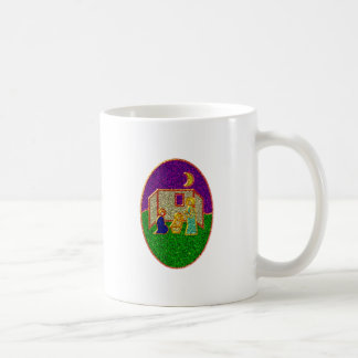 Emaille pesebre enamel nativity set crib taza de café