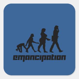 Emancipación Pegatina Cuadrada