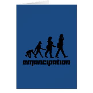 Emancipación Tarjeta De Felicitación