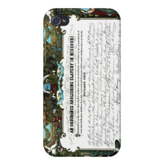 Emancipation Ordinance of Missouri iPhone 4 Covers