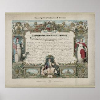 Emancipation Ordinance of Missouri Poster