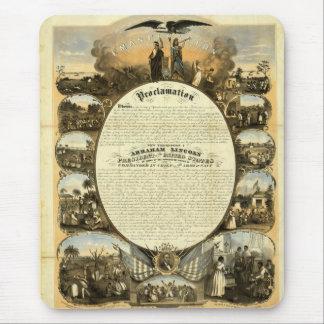 Emancipation poster mouse pad