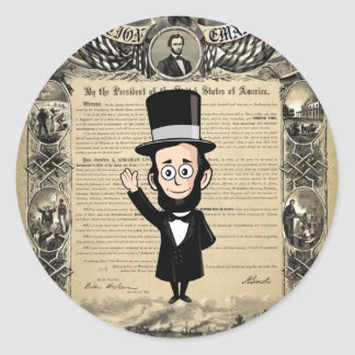 Emancipation Proclamation and Honest Abe Lincoln Classic Round Sticker