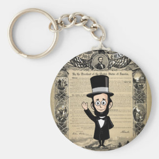 Emancipation Proclamation and Honest Abe Lincoln Keychain