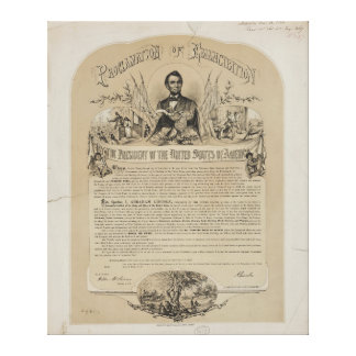 Emancipation Proclamation B B Russell & Co (1868) Canvas Print