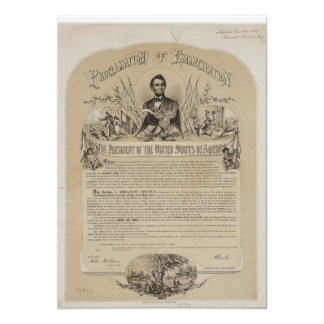 Emancipation Proclamation B B Russell & Co (1868) Card