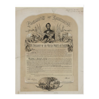 Emancipation Proclamation B B Russell & Co (1868) Postcard