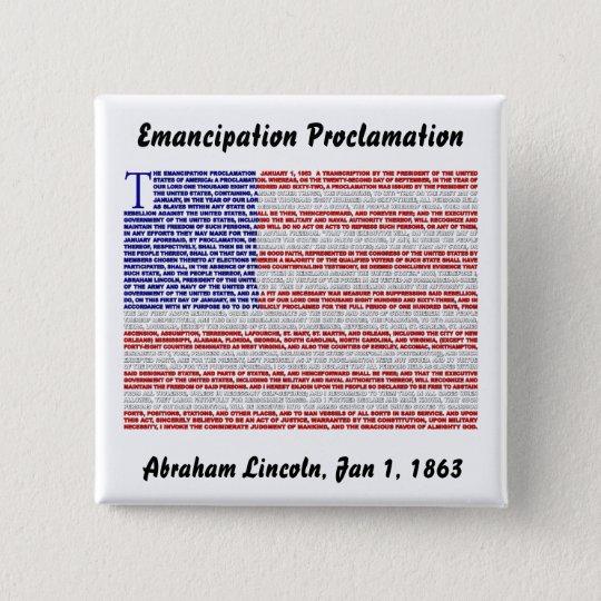 Emancipation Proclamation Button
