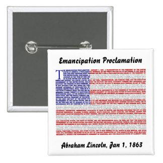 Emancipation Proclamation 2 Inch Square Button