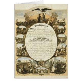 Emancipation Proclamation by L Lipman Cards