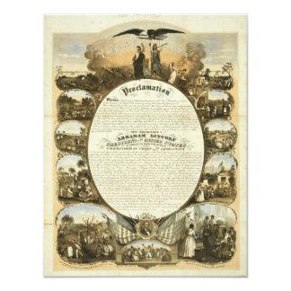 Emancipation Proclamation by L. Lipman Custom Invitation