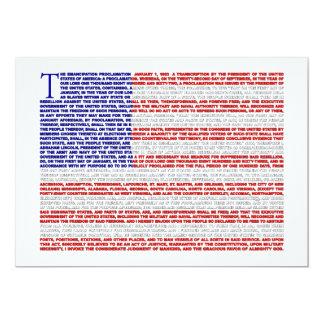 Emancipation Proclamation Invite