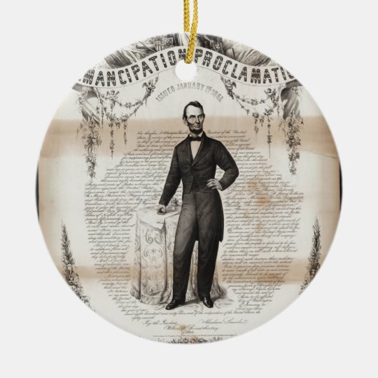 Emancipation proclamation issued January 14, 1863. Ceramic Ornament