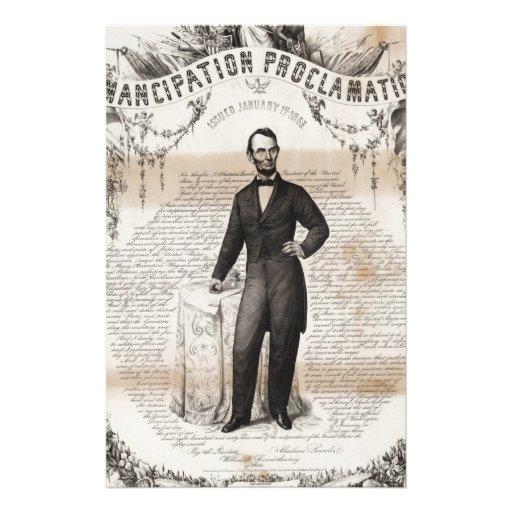 Emancipation proclamation issued January 14, 1863. Stationery