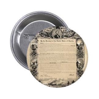 Emancipation Proclamation Print 2 Inch Round Button
