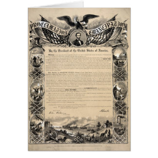Emancipation Proclamation Print Card