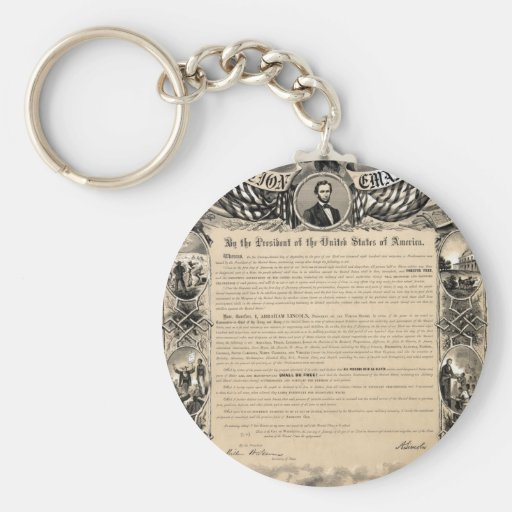 Emancipation Proclamation Print Keychains