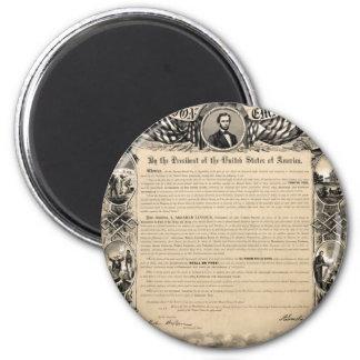 Emancipation Proclamation Print Magnet