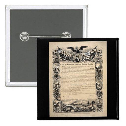 Emancipation Proclamation Print Pinback Buttons
