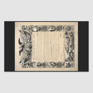 Emancipation Proclamation Print Rectangular Sticker