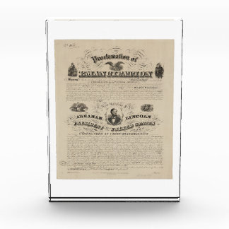 Emancipation Proclamation Reprint from A. Kidder Acrylic Award