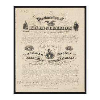 Emancipation Proclamation Reprint from A. Kidder Canvas Print