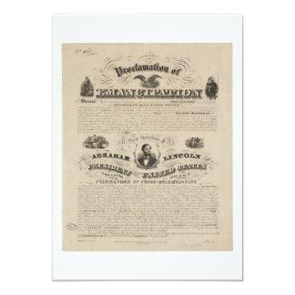 Emancipation Proclamation Reprint from A. Kidder Card