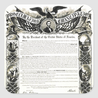 Emancipation Proclamation Square Sticker