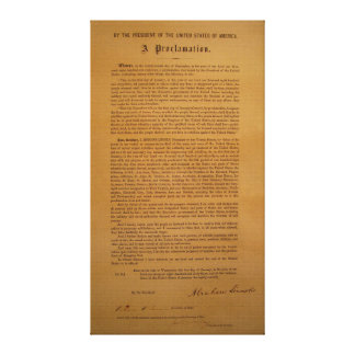 Emancipation Proclamation Typeset 1864 Canvas Print