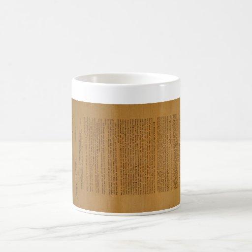 Emancipation Proclamation Typeset 1864 Classic White Coffee Mug